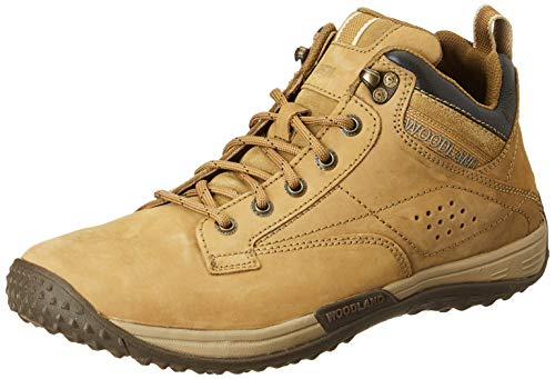 Woodland Men's Camel Leather Sneaker-8 UK (42 EU) (GC 2919118)