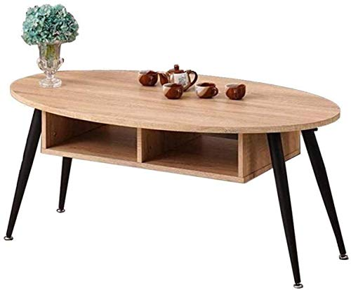 Ménage Table d'appoint Salon ménage Table d'appoint Canapé, Table Snack avec Finition du Bois et de la Construction en Acier for Le café, Snack, Tablette (Color : B)