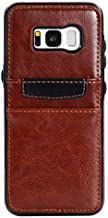 Note 5 Case, Moona Wallet Case for Samsung Galaxy Note 5 with Pocket for Wallet 1 Year Warranty! - Samsung Galaxy Note 5 Wallet Case, Note 5 PU Leather Case, Note 5 Thin Case (Tan/Black)