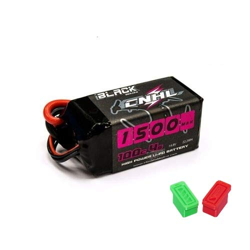 CNHL Black Series 1500mAh 14.8V 4S 100C Bateria Lipo XT60 + Regalo Tapones de Carga y Descarga