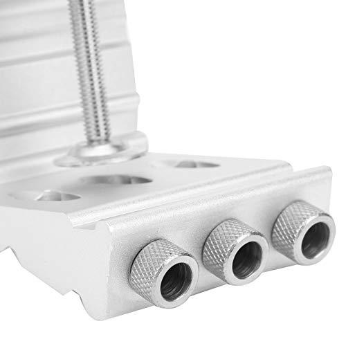 Guía de taladro, práctico posicionador de perforación de aleación de aluminio para carpintería, hogar para perforación de carpintería, decoración del hogar DIY