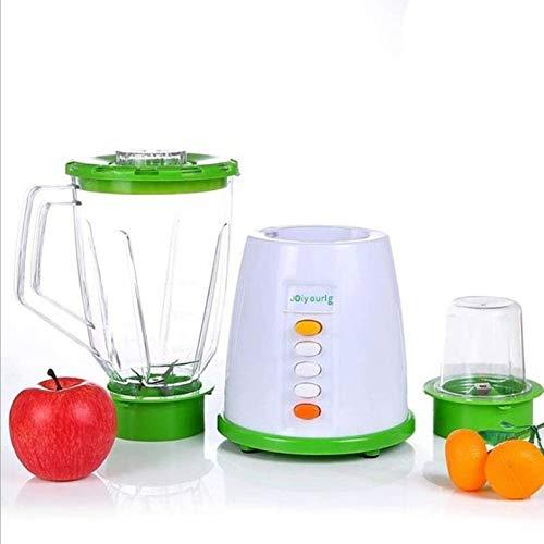 CloverGorge Exprimidor Eléctrico para Uso Doméstico, Licuadora Automática, Verde, Enchufe Chino