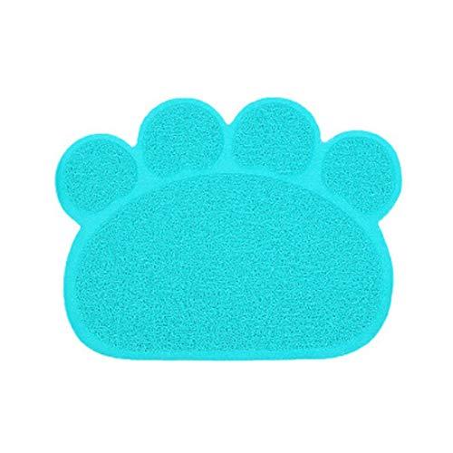 Kattennest Mat Huisdier Tapijten PVC Waterdichte Pad Kleine Honden en Konijnen Waterkom Placemat Voeding Pad Kussen Badkamer Vloertapijt (30 x 40 cm), 30 x 40 x 0.8cm / 11.8 x 15.8 x 0.3 inches, Klauw zand pad blauw groen