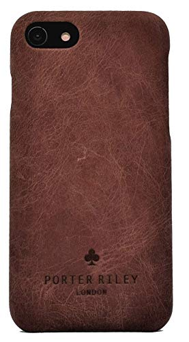 Porter Riley - Lederhülle für iPhone 6 / iPhone 6s. Premium Ultra Dünn Echtleder Cover/Ledertasche/Backcover kompatibel mit iPhone 6/6s (Schokoladenbraun)