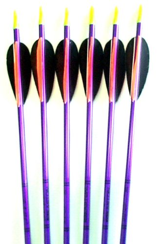 Feather Fletched Easton XX75 Jazz Aluminum Arrows 6-Pack 28 1716