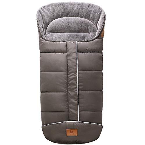 Miracle Baby Sacos Carrito Bebe,Sacos de Abrigo para Carritos Impermeable y Transpirable,Sacos Carrito Bebe Invierno 102X54CM gris