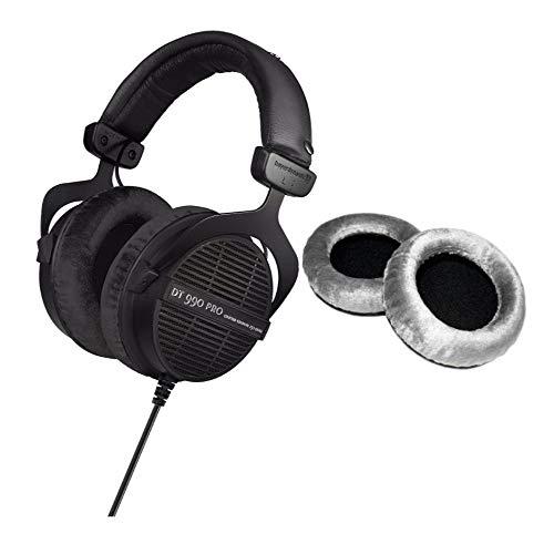 Beyerdynamic DT-990 Pro Acoustically Open Headphones (250 Ohms) with Extra Set of Ear Pads Bundle