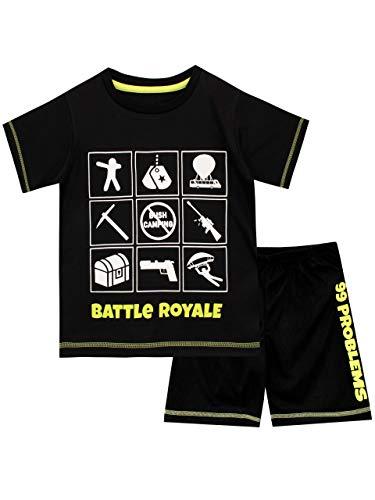 Battle Royale Boys' Gaming Pajamas Size 8 Black