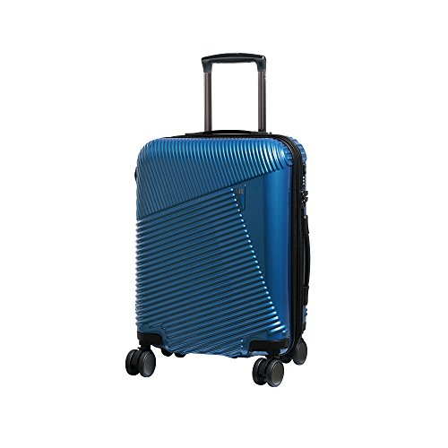 it luggage Metamorphic 8 Wheel Hard Shell Single Expander Suitcase Cabin with TSA Lock Maleta, 54 cm, 56 Liters, Azul (Glass Blues)