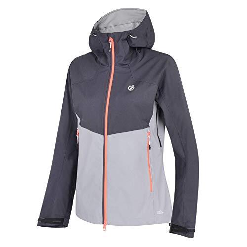Dare2b Sierra' Waterproof Stretch Hooded Jacket Shell, Damen Ebony Grey/Cloudy Grey, 20