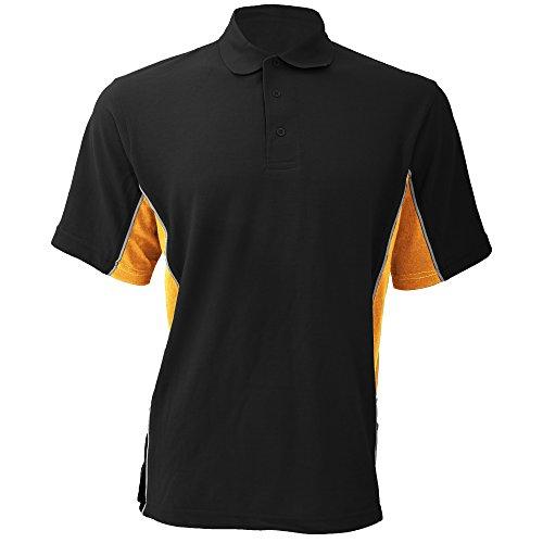 GAMEGEAR - Polo à Manches Courtes - Homme (S) (Noir/Orange/Blanc)