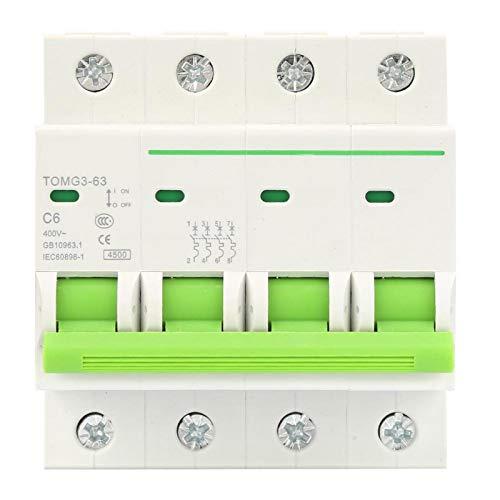 Disyuntor, Disyuntor en miniatura, TOMG3-63 4P Tipo C Disyuntor en miniatura Protección contra fugas Interruptor de aire(16A)