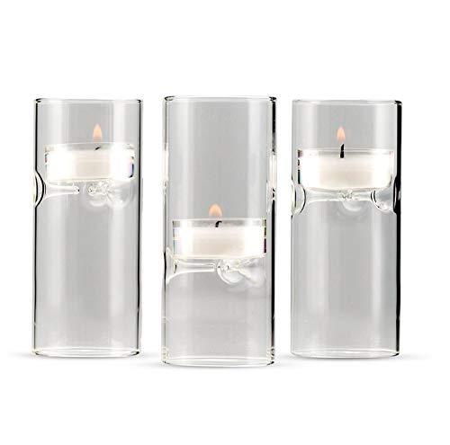 Weddingstar 9247 - Luminarias de cristal soplado en miniatura