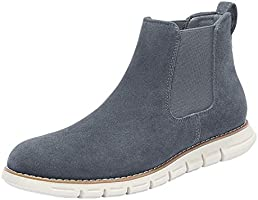 Bruno Marc Men's Suede Chelsea Boots Casual Ankle Shoes