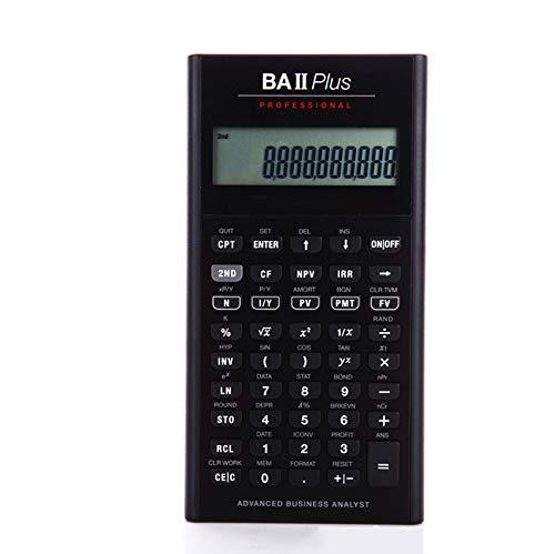 QIA Finanzrechner, LED-Bildschirm 10-stellige Anzeige Taschenrechner für CFA/CFP/AFP/SOA/FRM-Test