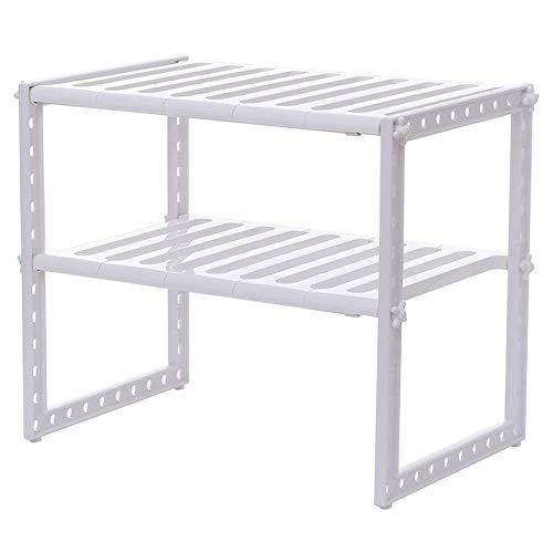 JINKEBIN Estante de cocina estante de cocina 2 capas estante de especias Pan Rack de almacenamiento de cocina