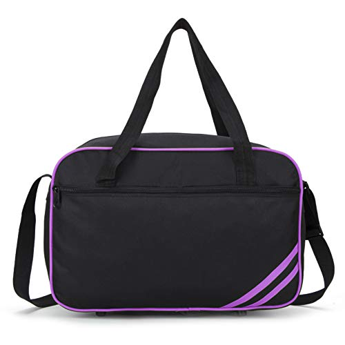 Ryanair Small Second Hand Luggage Travel Cabin Shoulder Flight Bag 40x20x25 Under Seat Travel Holdall (Black Purple)