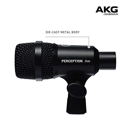 AKG Pro Audio Perception P4 Dynamic Cardiod Microphone Designed for Drums and Percussions, Wind Instruments and Guitar Amps