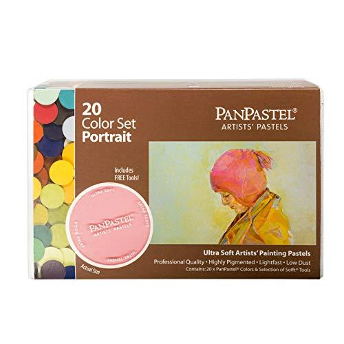 PanPastel - Peinture Pastel pour Artiste - Lot de 20 couleurs - Coffret thématique - Portrait
