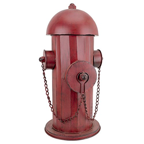 Design Toscano FU68858 Fire Hydrant Statue Puppy Pee Post and Pet Storage Container, Medium, Full Color