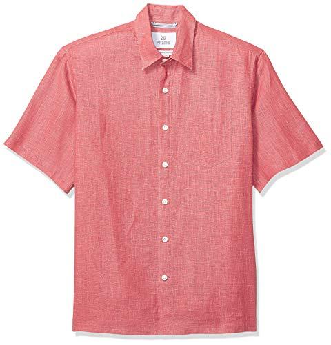 Marca Amazon – 28 Palms – Camisa de lino 100 % de manga