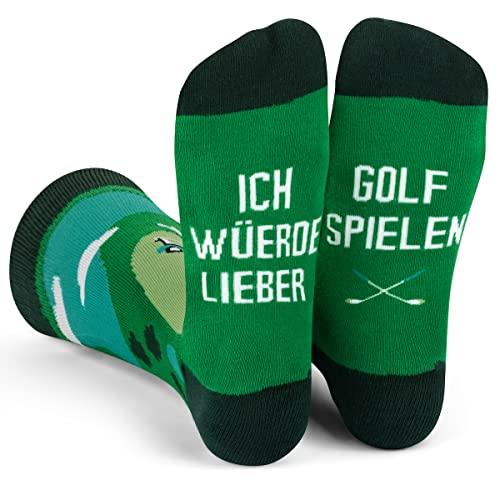 Ich Würde Lieber Ein Lustiges Socken Geschenke für Männer und Frauen - Golf
