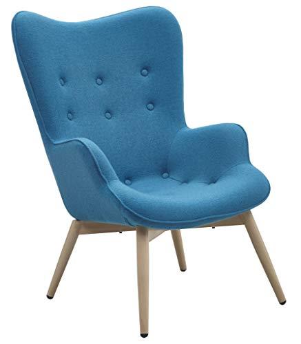 SalesFever Sessel mit Armlehnen und Webstoff bezogen Anjo blau