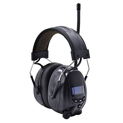 Gehörschutz mit DAB + / FM-Radio und Bluetooth, Rauschunterdrückungs-Headsets mit Lithium-Akku und eingebautem Mikrofon,für Werkstatt, Garten, Mähen, Sägen, Bauwesen, Traktorfahren, SNR 30 dB