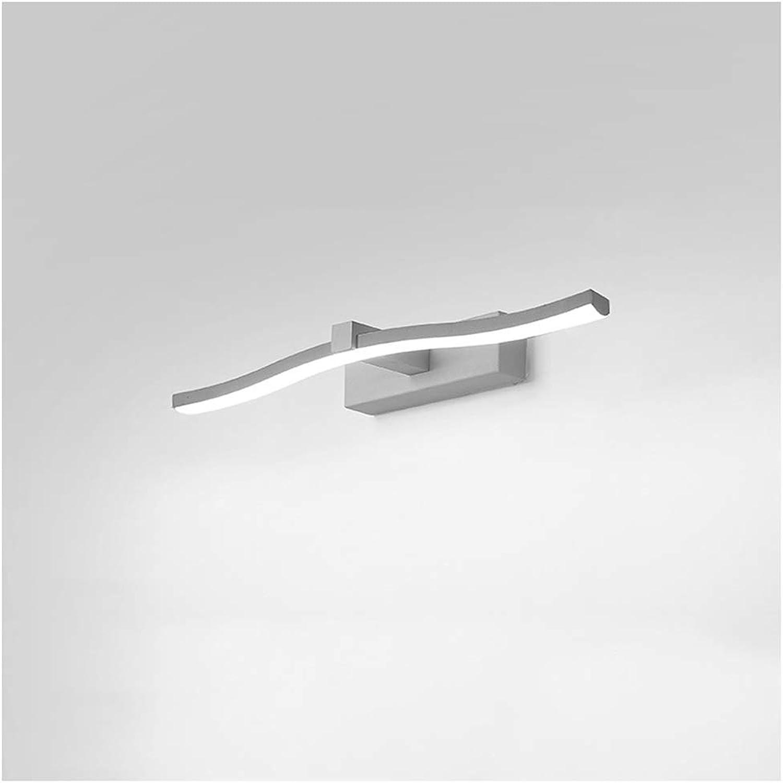 Spiegelleuchte vorne, Spiegelleuchte, moderner Minimalismus, nordischer Stil, LED-Spiegelleuchte, Badezimmer-Make-up-Leuchte, Wandleuchte (Größe   40cm)