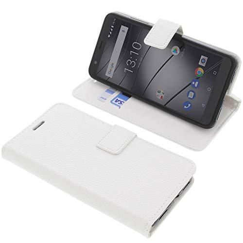 foto-kontor Tasche für Gigaset GS280 Book Style weiß Schutz Hülle Buch