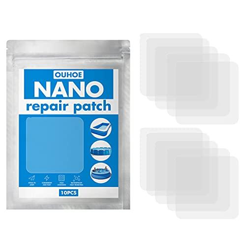WHSC Aufblasbares Reparaturset, Schwimmring, wasserdicht, selbstklebend, Nano-Reparaturflicken