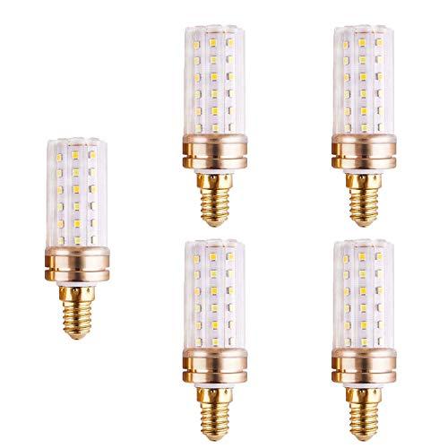 FYJK Bombilla LED E14 / E27 luz Blanca/luz Blanca cálida/luz Tricolor 5W / 6W / 7W para lámpara de Escritorio, Luces Colgantes (Paquete de 5),E14 6w Tricolor