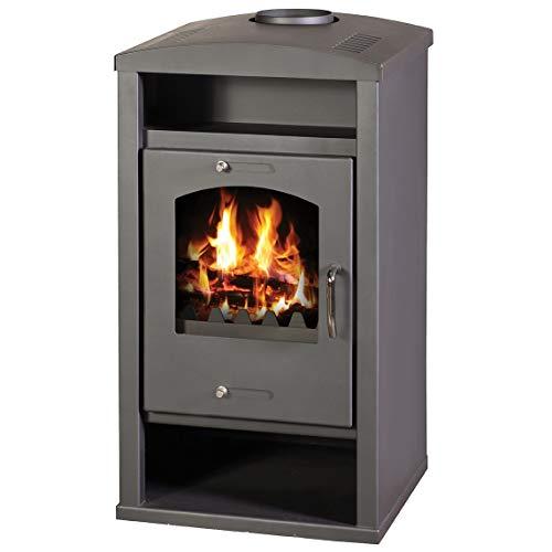 Estufa de leña con caldera integral de combustible sólido para calefacción central 12/17 kw potencia de calefacción