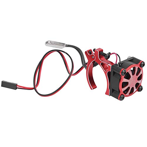 Nunafey Ventilador de refrigeración, disipador de Calor de Motor de Coche RC, para Modelo de Coche RC Accesorio RC Accesorio de Modelo de Coche(Red)