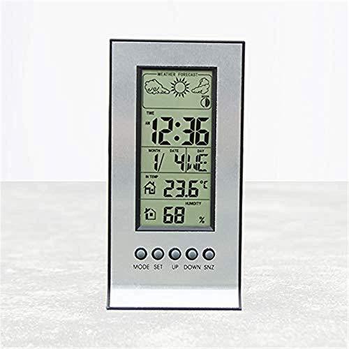 Barry Century Wettervorhersage-Station, Zuhause Elektronische Tischuhr Innenhygrometer Digitaler elektronischer Wecker Multifunktionswetterstation