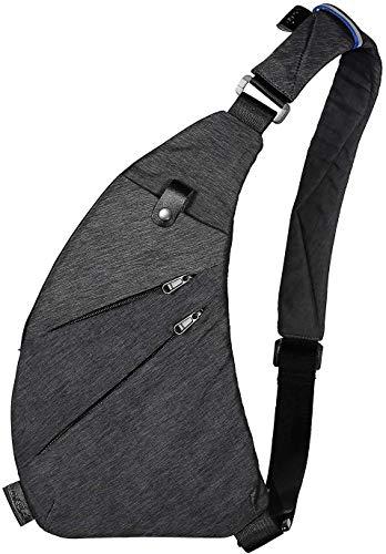 TOPNICE Sling Bag Crossbody Shoulder Chest Anti Theft Travel Personal Pocket Bag for Women Men Water Resistance in Dark Gray