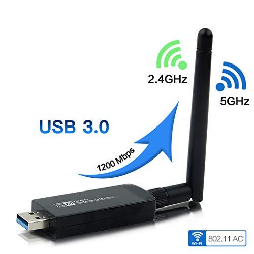 LYY Adaptador WiFi para PC de Escritorio, WiFi dongle Adaptador USB de...