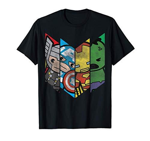 Marvel The Avengers Kawaii Chevron Maglietta