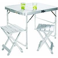 Gran Canyon juego de mesa maleta incl.2 taburetes, plegable, aluminio, plata, 308006