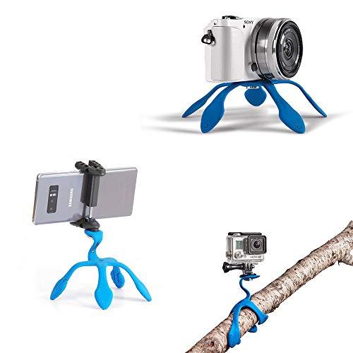 Miggo Splat - Flexibler Tripod 3N1 für Handy Smartphone, Halterung aus Silikon für Action Kameras - Blau