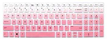 Keyboard Skin Compatible for HP Laptop 15.6 inch Spectre x360 15-CH011DX 2018 Flagship HP 15-ay191ms HP Envy X360 2-in-1 15M HP 15-CB 15-CC/CD 15-BW/BS 17.3  HP Envy 17-BS/BW Series -Ombre Pink