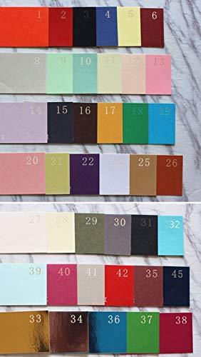 Zcm Tarjeta de cumpleaños Tarjeta de invitación de la Boda del Laser 50pcs Rural Despedida de Soltera Tarjetas de felicitación de cumpleaños (Color : Choose Color, Size : Customzied Printing)