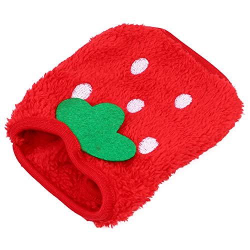 Hemobllo Hase Kleidung Meerschweinchen Kleidung Rot Erdbeere Kleine Haustier Kostüm Weste Hamster Welpen Kätzchen Kleidung Zubehör XXS