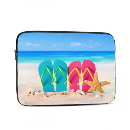 Estuche Protector para computadora portátil Chanclas de Playa en Color arcoíris Funda...