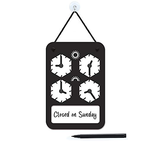 3DP Signs - Design para Personalizar - Cartel Horario de Apertura Ajustable - Polygonal OH04 - Placa Horario para Tiendas, Cartel horario Comercio, Placa horario Comercial, Cartel horario Negocio