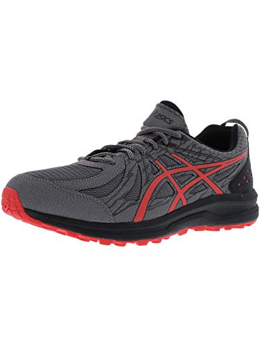 ASICS Men's Frequent Trail, Carbon/Red Alert, 9.5 EEEE