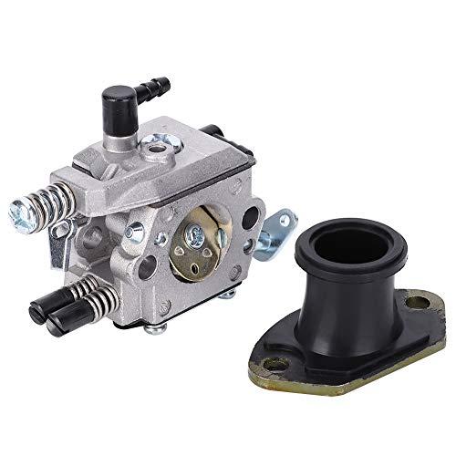 Repuesto de colector de admisión de carburador para motosierra china 4500 5200 5800 52CC 58CC +, con peso ligero, buena rigidez, duradero en uso