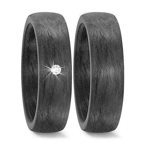 CORE by Schumann Design Trauringe Eheringe aus Carbon/schwarz mit echten Diamanten GRATIS Gravur 19108135