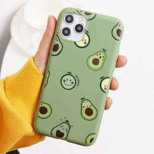 Pnakqil Cover iPhone 6 / 6s,Ultrasottile Morbida Silicone Protettiva Custodia Colore Candy Verde Chiaro Impermeabile Antiurto Disegni San Valentino Regalo per iPhone 6 / 6s,Avocado 02