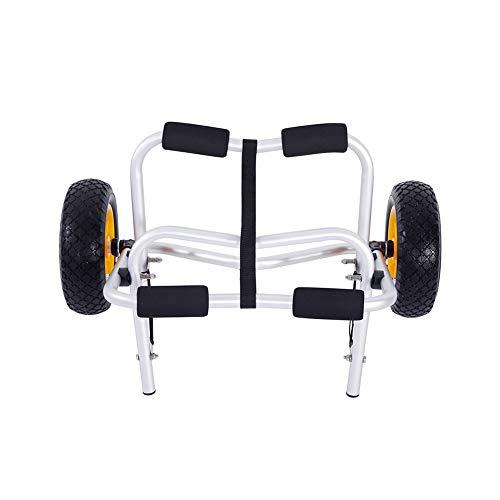 El carrito de kayak está hecho de aleación de aluminio resistente carro es adecuado para costa (plata).